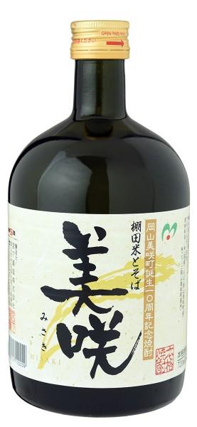 岡山美咲町誕生10周年記念焼酎 棚田米とそば 美咲 720ml