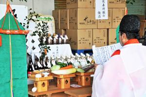 吉備津神社の宮司による長寿祈願2