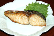 瀬戸の魚島に合うさわらの塩焼き