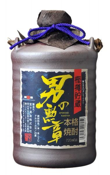 長期樫樽貯蔵 米焼酎 男の勲章(民陶) 720ml